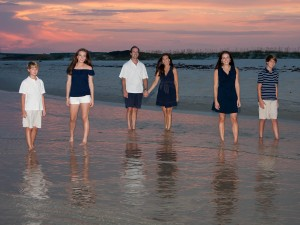 The Beach Club - Family Portrait Reflection - Fort Morgan Photographer
