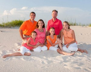 Family Portrait with color - Gulf Shores Photographer